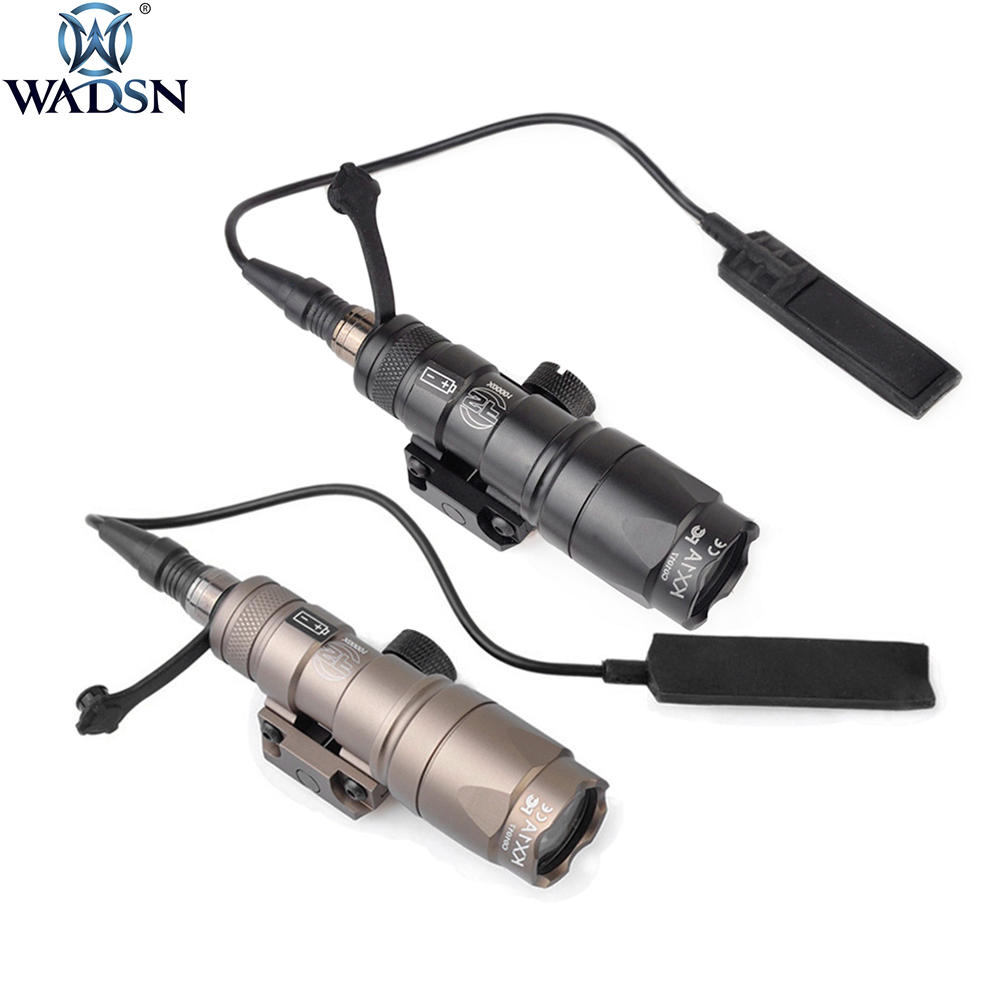 Weapon Flashlight Light-250lumen Scout M300A Hunting Rifle WADSN Tactical Mini Surefir