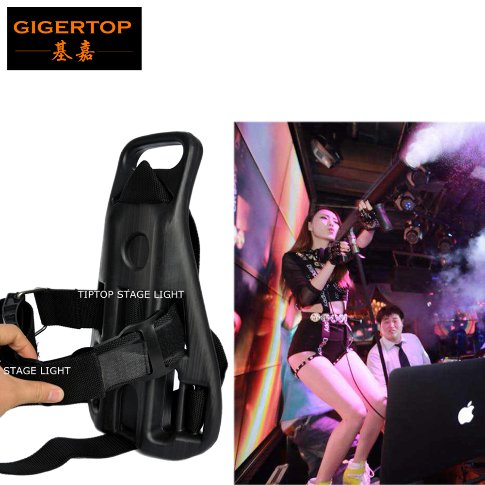 TIPTOP Stage Light Co2 Cylinder Handheld DJ Gun Back Pack Concert Nightclub Wedding Co2 Jet Cannon Carry Belt Diving Backpack 6pcs lot stage effect co2 cannon jet dmx512 powerful co2 fog cannon machine with free 6m hose