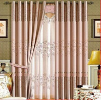 Curtain finished product simple modern plane floor window punching living room bedroom Princess breeze full shade cloth