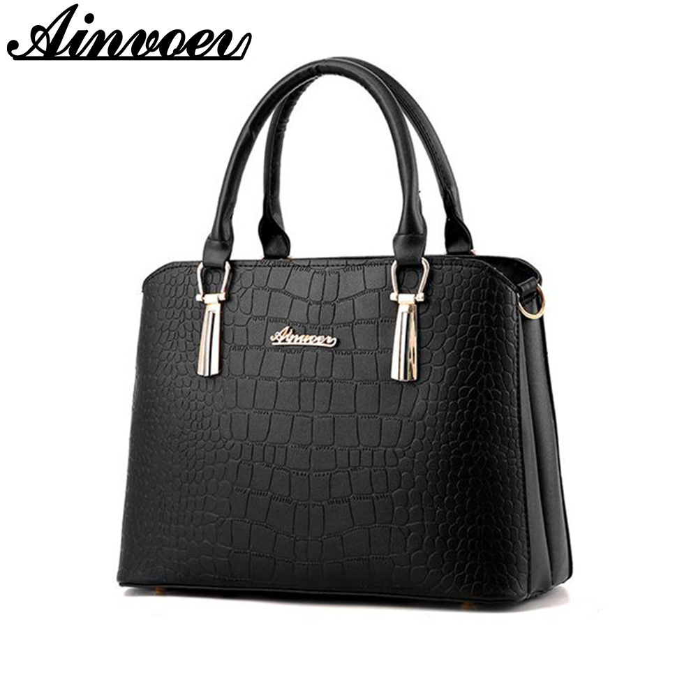 Ainvoev Famous Brand Women Handbags Fashion Female Leather Bags Tote Shoulder Messenger Bags Cross body bolsa feminina a1451 2018 women messenger bags vintage cross body shoulder purse women bag bolsa feminina handbag bags custom picture bags purse tote