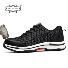 New exhibition 2018 Fashion safety shoes Men Lightweight Mesh Breathable Night Reflective Casual Sneaker men Steel Toe Work shoe