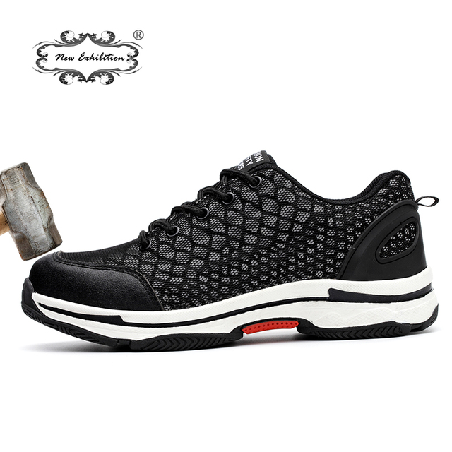 New Exhibition 2018 Fashion Safety Shoes Men Lightweight