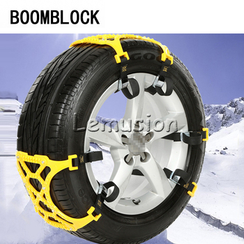 Plastic Snow Chain Tire Anti-slid Mat For Skoda octavia a5 2 a7 Fiat 500 Grande Punto Mazda 3 6 cx-5 cx-3 Volvo 2017 Accessorie