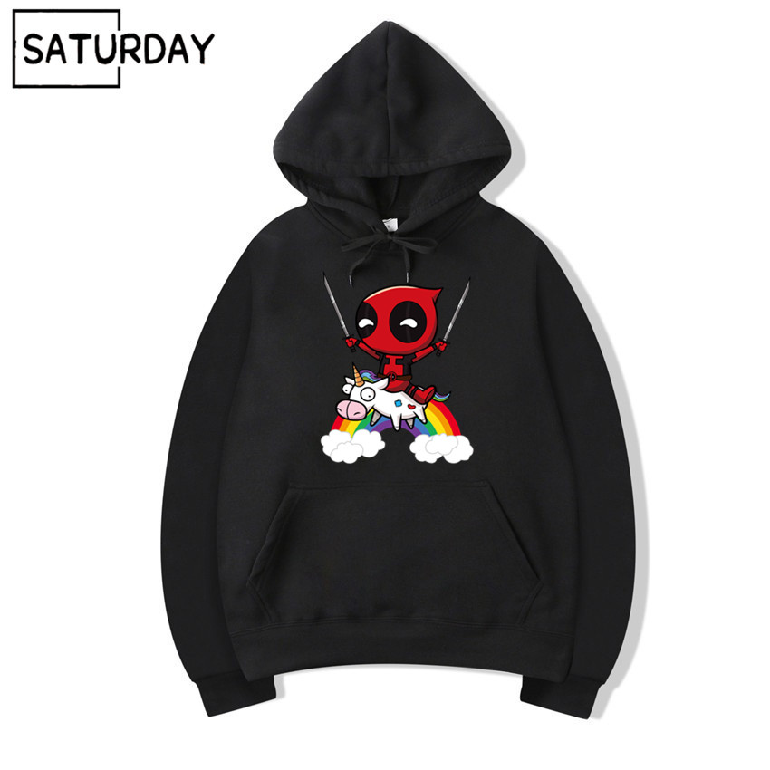 Men's Deadpool Hoodie Sweatshirts Winter Women Casual Harajuku Fleece Warm Hooded Sweatshirts Streetwear Unisex Hoodie
