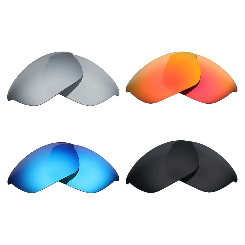 b273ee344f Aliexpress.com   Buy 4 Pairs Mryok POLARIZED Replacement Lenses for Oakley  Half Jacket 2.0 Sunglasses Stealth Black   Ice Blue   Fire Red   Silver  from ...