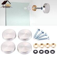Myhomera 8 комплектов Dia.16-25 мм зеркальные декоративные украшения для ногтей рекламные стеклянные винтовые крышки крепежные детали из нержавеющей стали для крепления билборда