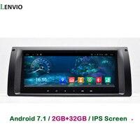 Lenvio Оперативная память 2 ГБ + 32G 8,8 ips автомобильный dvd плеер Android 6,0 для BMW X5 E39 1996 2003X5 E53 2001 2007 M5 1996 2003 4 ядра радио gps