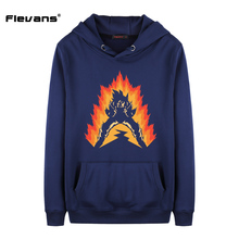 Dragon Ball Z Son Goku Print Long Sleeve Winter Pullover Sweatshirt