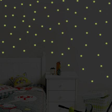 HTB1eo.iQVXXXXXuXpXXq6xXFXXXI - 100pcs Fashion Wonderful Solid Stars Moon Glow in the Dark For Bedroom