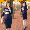 New arrival   Strong elastic maternity clothing fashion long-sleeve one-piece dress fashion sweater brief basic maternity dress