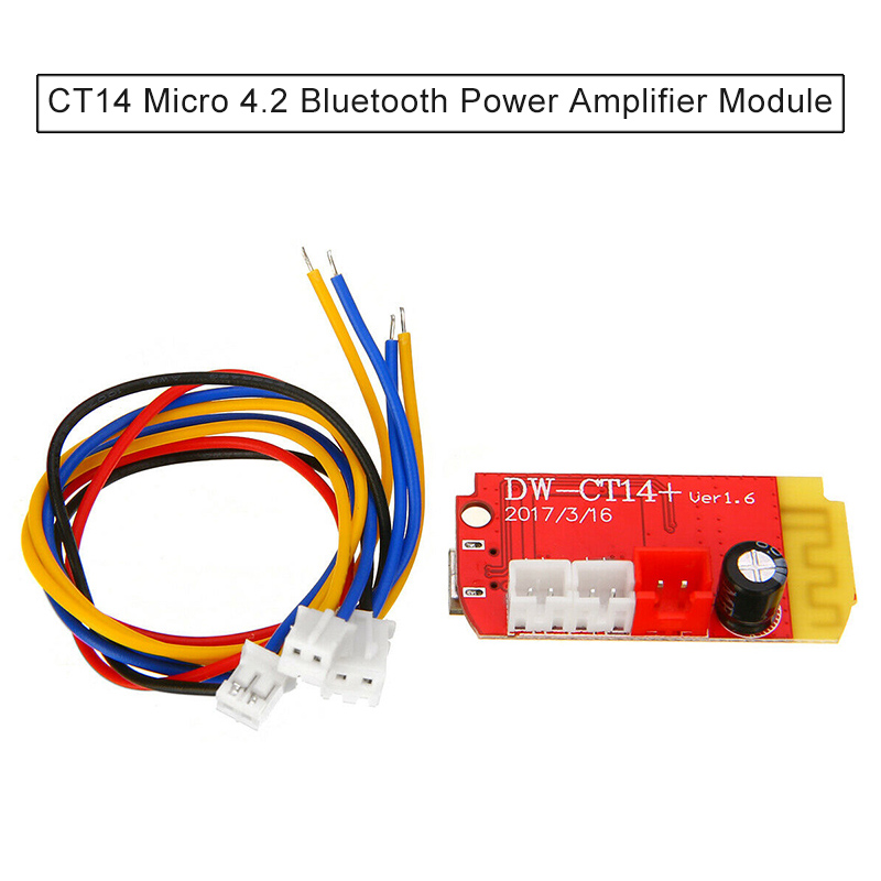 CT14 Micro Bluetooth Power Ampifier Board Module Bluetooth 4.2 Stereo Board DJA99