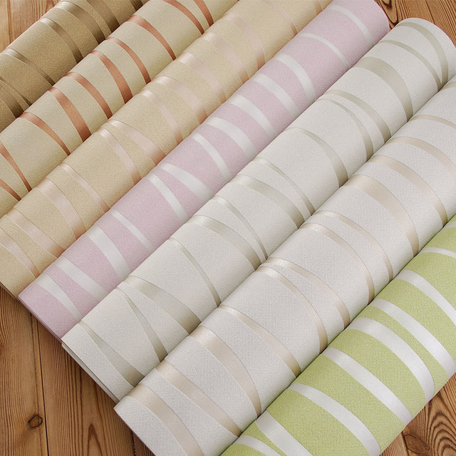 Modern Living Room Background Striped Wallpaper 3d Embossed Roll Green Papel
