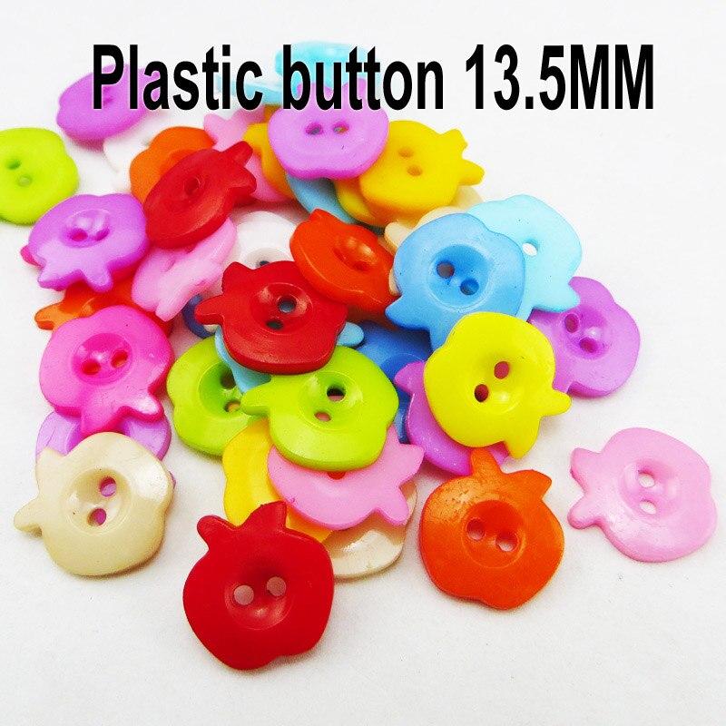 АКЦИЯ 100 шт смешанные формы много цветов Сделай Сам Скрапбукинг Мультяшные кнопки пластиковые кнопки детская одежда швейные принадлежности P-001 - Цвет: 10