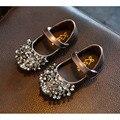 2017 novo estilo de princesa meninas shoes primavera outono diamante tênis da moda meninas crianças suave dancing shoes