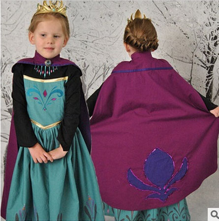 children princess dress kids anna elsa costumes dresses girls carnival snow queen christmas toddler girls halloween
