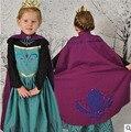 Los niños Vestidos de Las Muchachas de Princesa Dress Kids Anna Elsa Disfraces carnaval Niñas Ropa de Halloween Reina de la Nieve de la Navidad