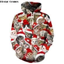 fb19ca0f0a2dc PLstar Cosmos marque de mode de noël sweat à capuche pour homme femmes  pulls imprimé Animal mignon chat 3d Sweatshirts à capuche.
