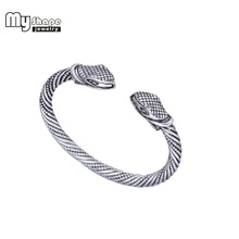 цена на My Shape Silver Plated Viking Bangle Snack Bracelet Men Crystal Cuff Bracelets Bangles for Women Jewelry Fashion Accessories