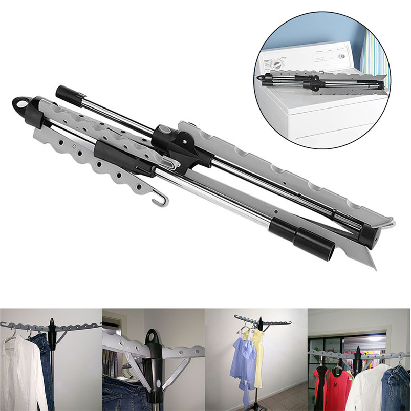 Collapsible Folding Hanger Portable Indoor Tripod Clothes Drying Rack for Hanging Laundry Plastic PP Steel Pipe