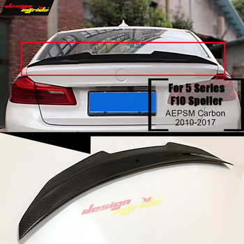 For BMW F10 Carbon Fiber CF Trunk Spoiler Wing PSM Style 5 Series 520i 525i 530i 550i High Kick Big Rear Wing Spoiler 2010-2017