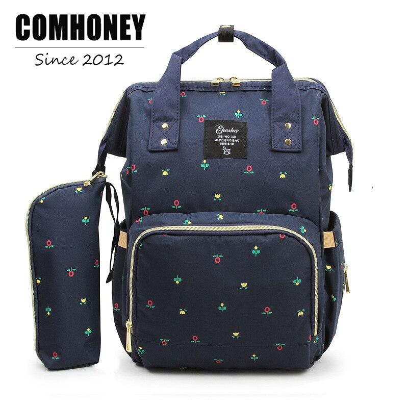 Backpack Diaper Bag Fashion Mummy Maternity Nappy Bag 21*27*42cm Changing Bag Wet Organizer Traveling Backpack Baby Nursing Bag
