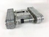 all Metal aluminium Robot Tank Platform metal Track Chassis DIY kit strong