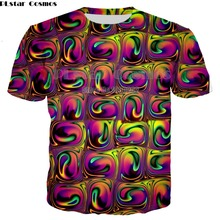 PLstar Cosmos 3D T Shirts Print cool Psychedelic Whirlpool Colorful Graphic Shirt Hip Hop Tops Casual Clothing