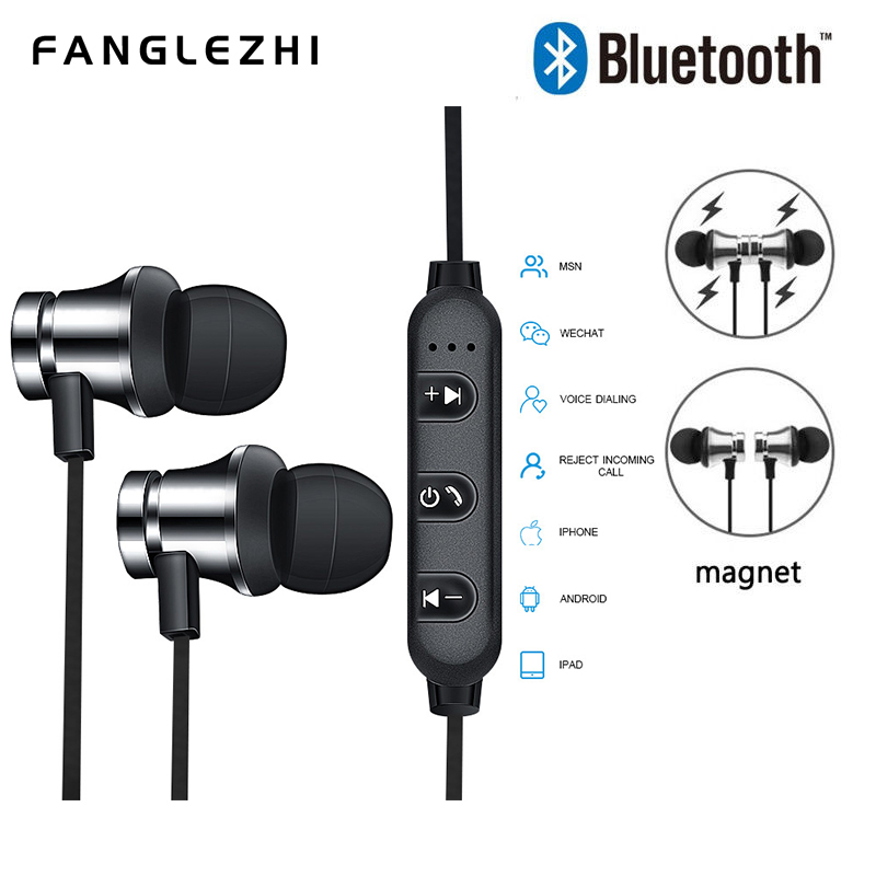 Wireless Headphone Bluetooth Earphone Headphone For Smart Phone Neckband Sport Earphone Auriculare CSR Bluetooth for Smart Phone in Bluetooth Earphones Headphones from Consumer Electronics