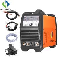 HITBOX Tig сварщиков газа Tig сварочный аппарат Acdc TIG200P функциональные Алюминий сварочное оборудование с аксессуары