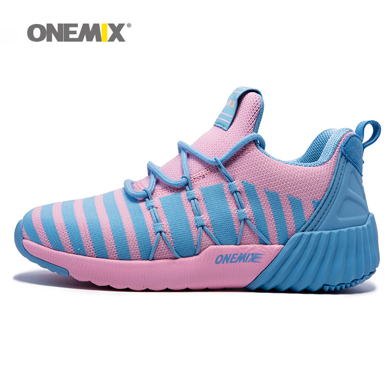 Onemix Woman Winter Warm Shoes for Women High Sports Outdoor Running Shoes Pink Blue Trends Athletic Trainers Walking Sneakers free shipping kapro 810 clamp device laser infrared horizontal marking ruler