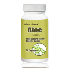 Aloe  60pcs  400mg Supports a Healthy Digestive System designing a healthy housing environment