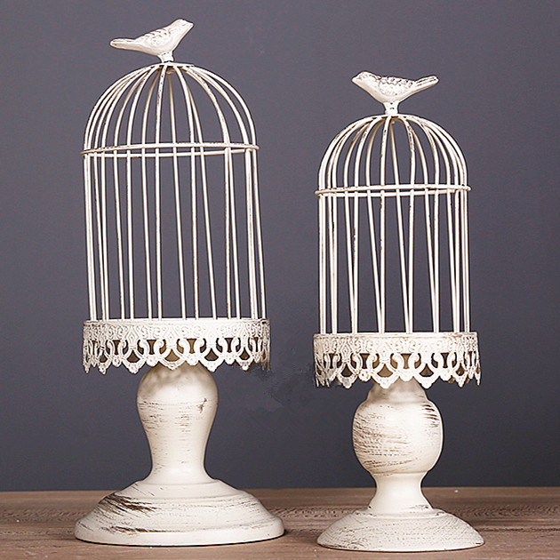 Hand Made White Moroccan Decor Vintage Metal Candle Lanternscandelabra Bird Cage Decoration For Wedding In Holders From Home Garden On