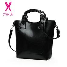 YANXI Hot Sale Women Casual Handbags High Quality Oil Wax Leather Female Shoulder Bag Designer Ladies Vintage Crossbody Bags Big