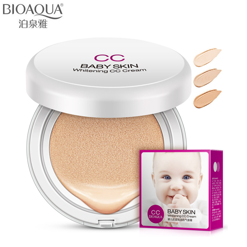 BIOAQUA Brand Baby Skin Air Cushion BB CC Cream Makeup Whitening Concealer Hyaluronic Acid Base Liquid Foundation Cosmetics 15g image
