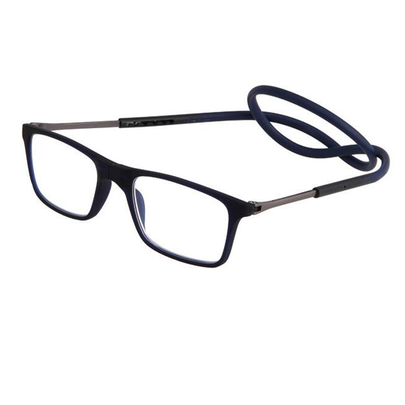 Das Mulheres Dos Homens marca Designer Óculos de Leitura Magnética Óculos  gafas Oculos Dobrável Óculos de Leitura Ímã Halter Pescoço Magnética A1 em  Óculos ... 9d8e3a154e