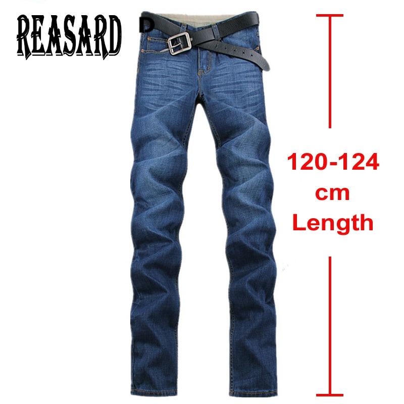 Tall Mens120cm Extra Long Jeans Men Plus Size 28-40 42 44  Mens Cotton Denim 2017 New Autum Winter Straight Classic Jeans