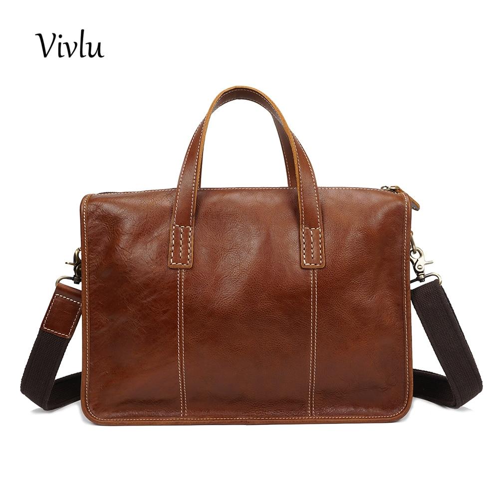 Men Genuine Leather Simple Cowhide handbags mens Business Crossbody Shoulder  Briefcase soft Laptop Messenger bag 110f770ce0731