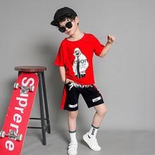 2019 kids clothing tshirt+harem pant Fashion Hip Hop Clothing dancing Cool Kids  Sports Suit children tracksuits Boy Clothes