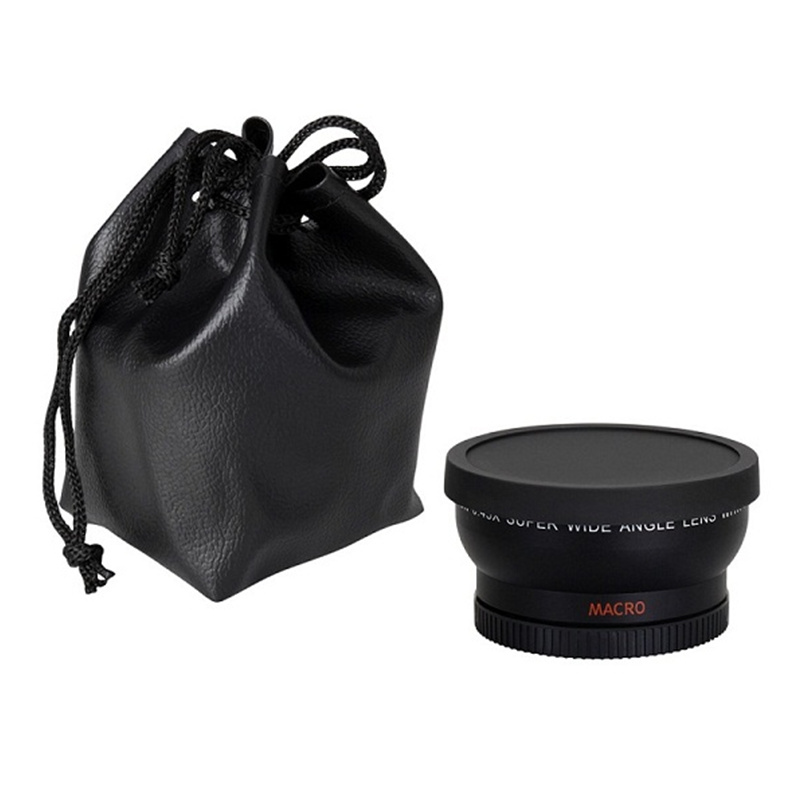 Линза «рыбий глаз» 0,45x37 мм, черная широкоугольная линза 0,45x + передняя и задняя крышка с макро для Sony Nex для Canon Nikon, 1 шт.