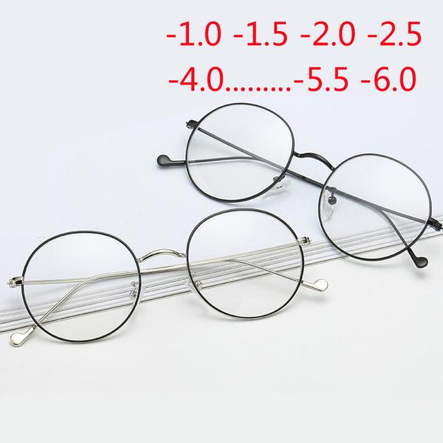 Metal men spectacles retro myopia decorative prescription optical glasses -1.00 -1.50 -2.00 -3.00 -4.00 -4.50 -5.00 -5.50 -6.00