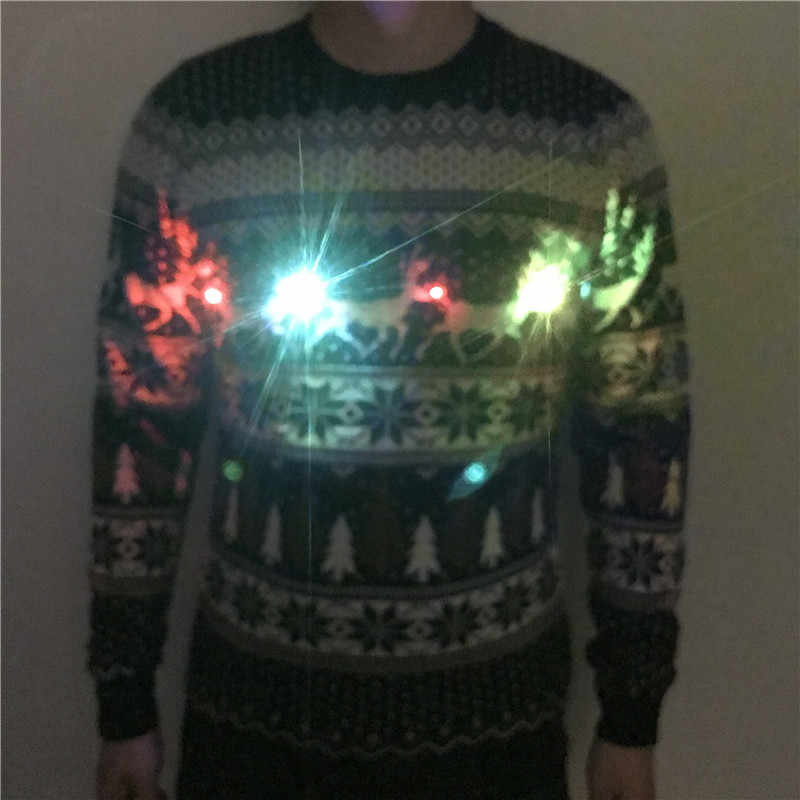 0706e74d98 ... Funny Knitted Light Up Family Matching Christmas Sweater Kawaii Knit  Lights Up Couples Matching Xmas Pullover ...