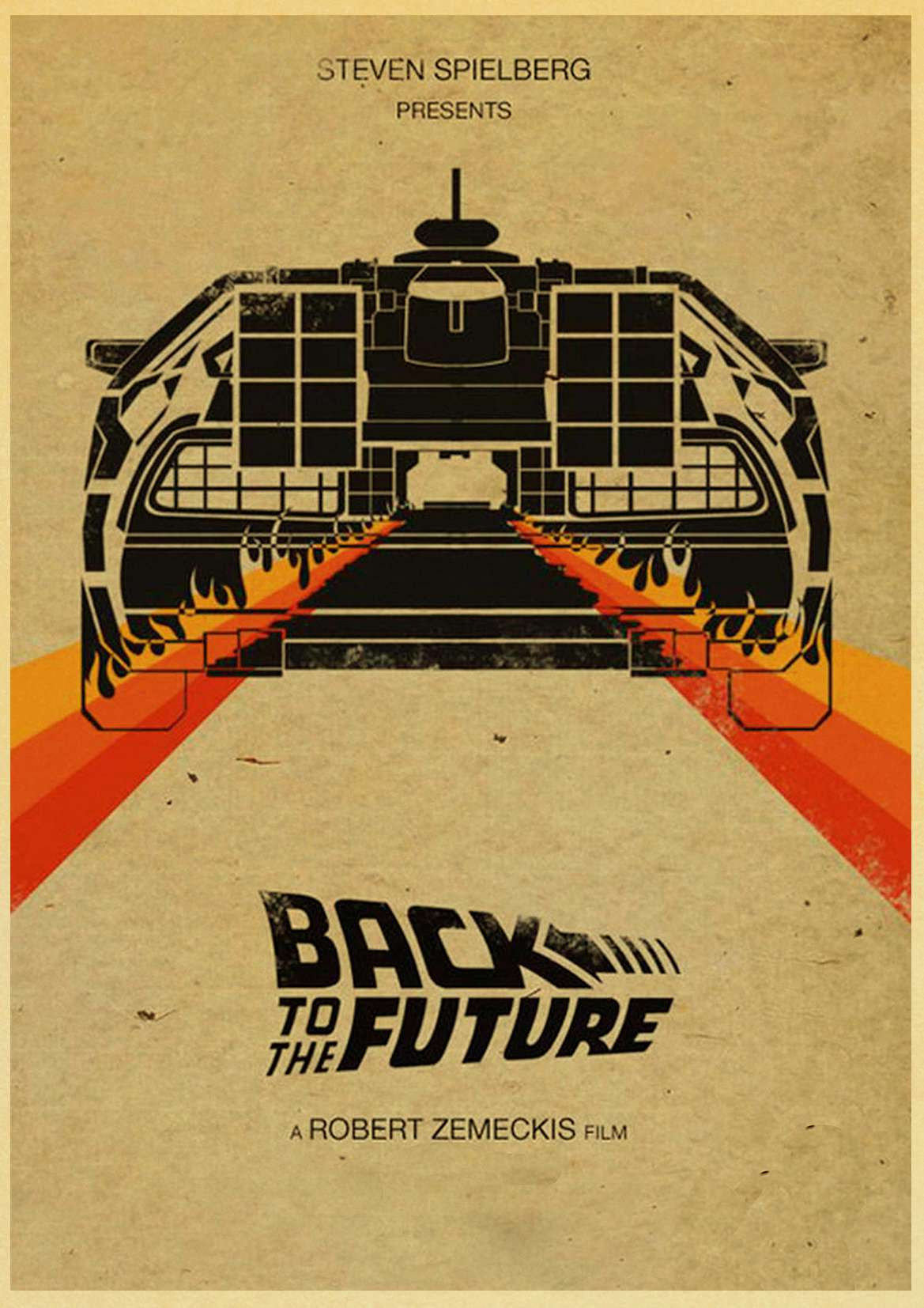 HTB1eo2vlbGYBuNjy0Foq6AiBFXaw Sci-fi Back to The Future Film Propaganda Retro Kraft Poster Decorative DIY Wall Canvas Sticker Home Bar Art Posters Decor