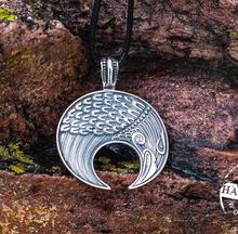 lanseis 1pcs Slavic Lunula Woman's Necklace Antique Silver Handmade Lunula Pendant Necklace Pagan Jewelry Norse