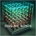 Горячая SMD 1206 3in1 откладки яиц 3D из светодиодов куб свет, 3D анимации эффекты, Из светодиодов для диско ну вечеринку, Выставка, Бар и т . д .