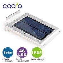 LED Solar Light 46 LEDs Waterproof IP65 Sensor Light Outdoor Light Path Roof Corridor Wall Lamp Spot Lighting LED Solar lamp