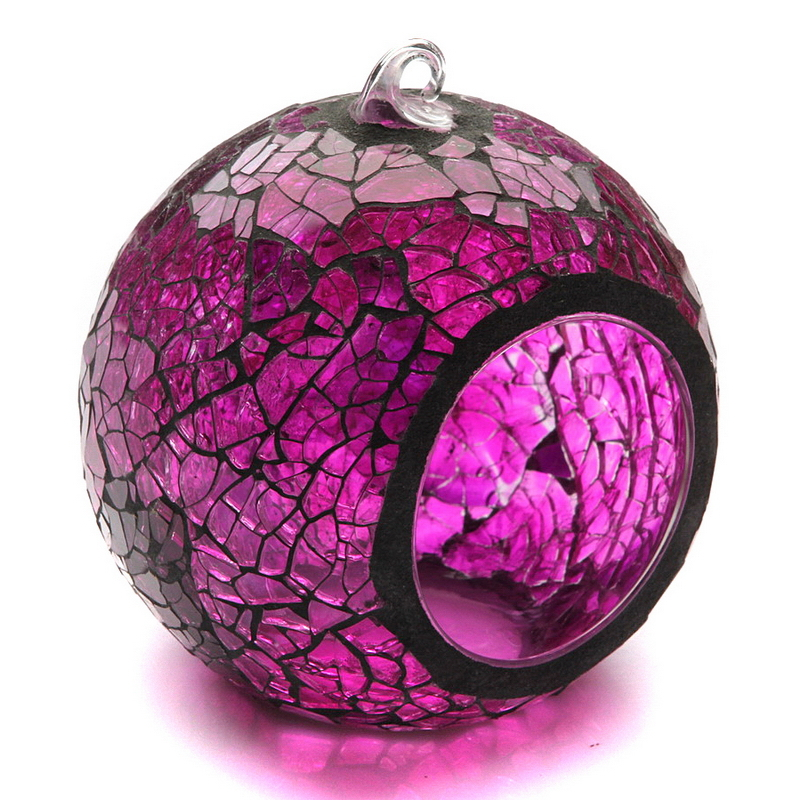 Purple Color Hanging Lantern Mosaic Tealight Candle Holders For Wedding Centre Party Home Decor In From Garden