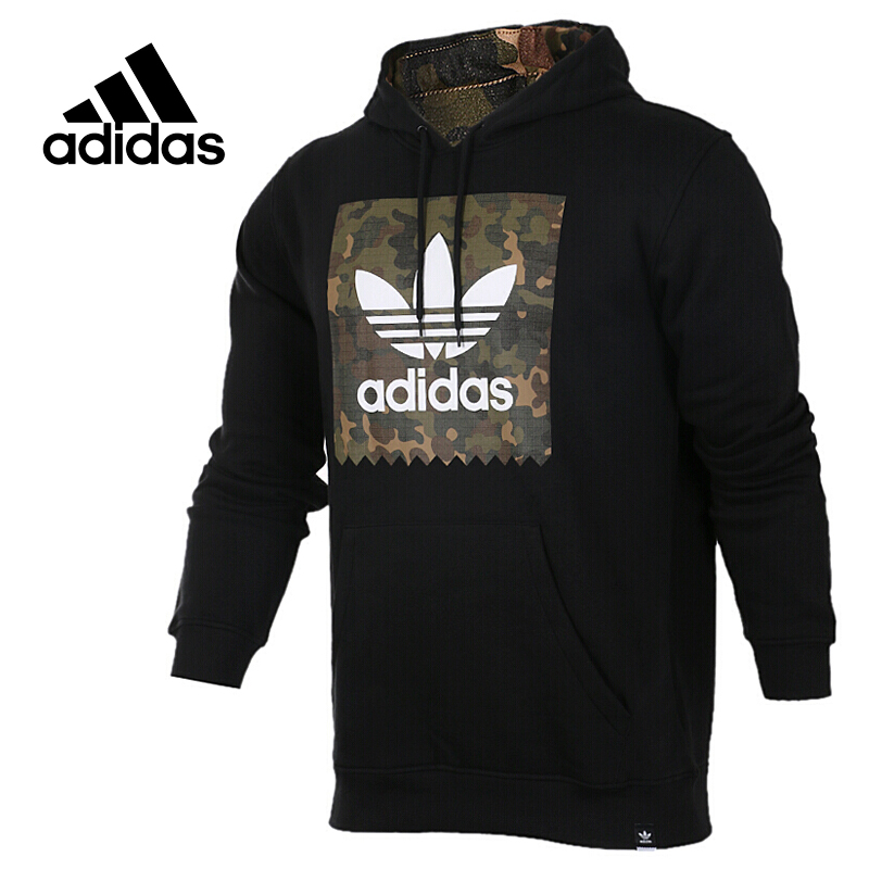 Original New Arrival Official Adidas Originals Men's Hooded Pullover Jerseys Trainning Sportswear цена