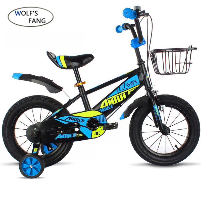 Bicycle Child's-Bike Fang Steel with Safety-Protective-Steel 14/16/18inch Bikes Boy Wolf's title=