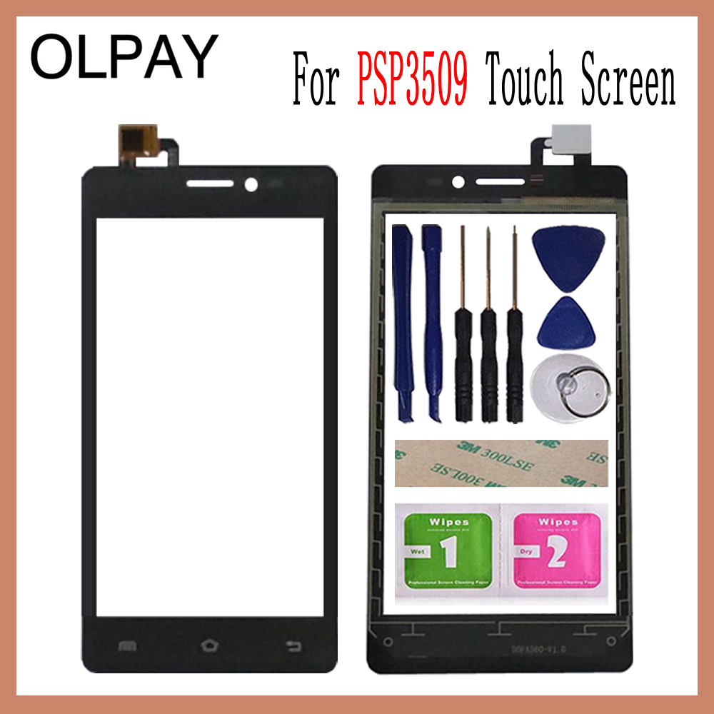 OLPAY 5.0'' Mobile Touch Screen Digitizer For Prestigio Wize E3 PSP3509Duo PSP3509 PSP 3509 DUO Touch Glass Sensor Tools