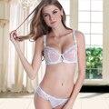 A B C D 32 34 36 38 40 42 Fashion sexy lace comfortable bra ultra-thin transparent plus size young girl bra set underwear